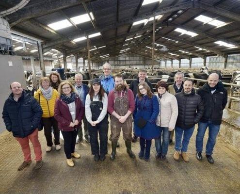 International rural conference visits Parkend Farm - group photo