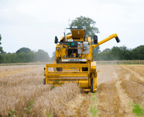 Hands Free Farm Combine Harvester