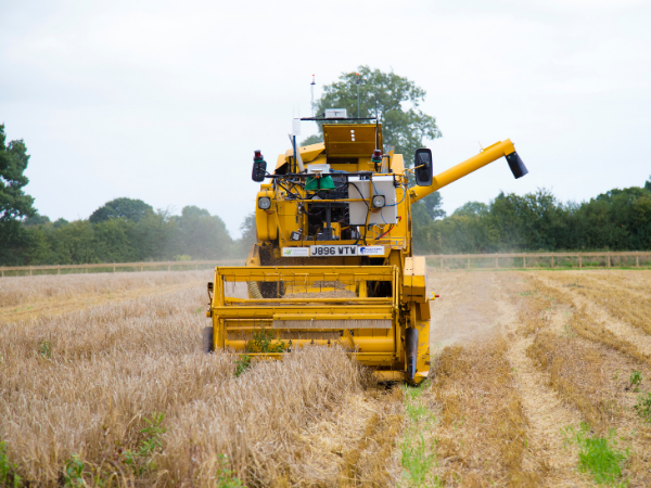 Hands Free Farm Combine Harvester