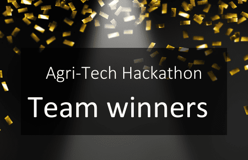 Agri-Tech Hackathon Team Winners Vet Impress (livestock challenge) and Orchabot (horticulture challenge)