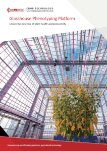 Agri-EPI Glasshouse Phenotyping Platform Brochure cover | Crop Technology Southern Agri-Tech Innovation Hub