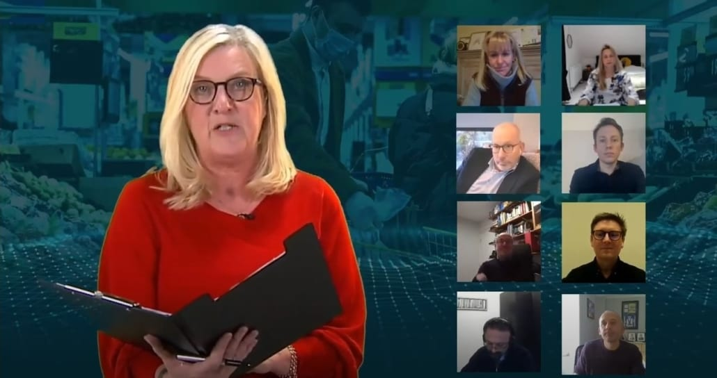 Virtual Conference 2020 | Screenshot Q&A panel and BBC Farming today Charlotte Smith | UK Agri-Tech Centres of Agricultural Innovation