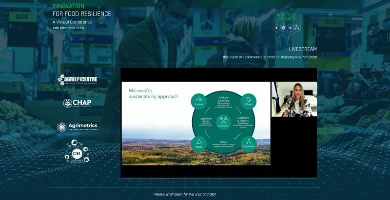 Virtual Conference 2020 | Screenshot Microsoft UK | UK Agri-Tech Centres of Agricultural Innovation
